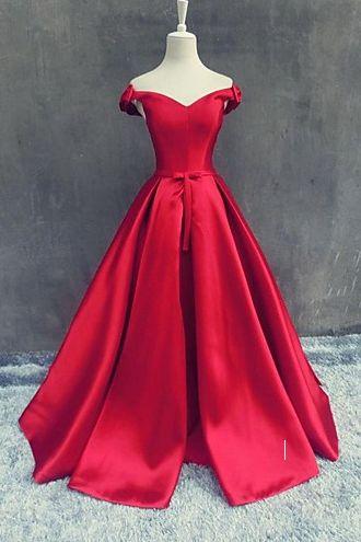 Off The Shoulder Red Prom Dress,Long Prom Dresses,Charming Prom Dresses,Evening Dress Prom Gowns, Formal Women Dress,prom Dress,X05 17