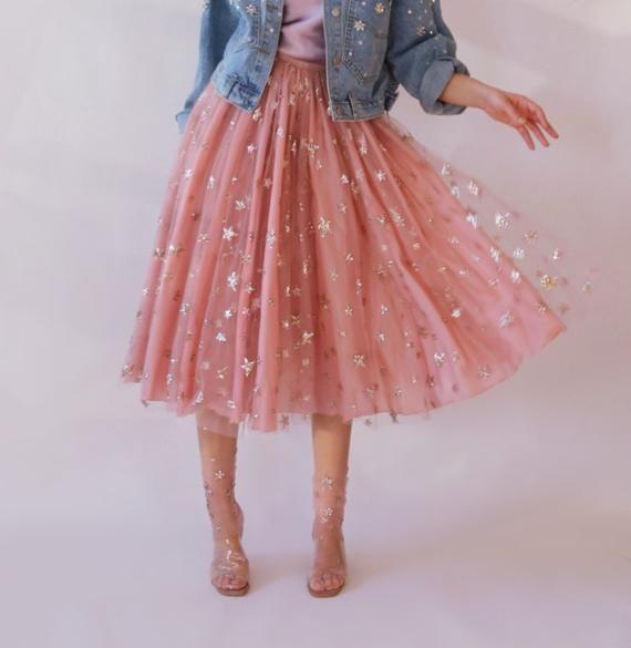 c12e9c2b7 Stars in her eyes skirt in 2019 | Dresses | Pink lace skirt, Skirts ...