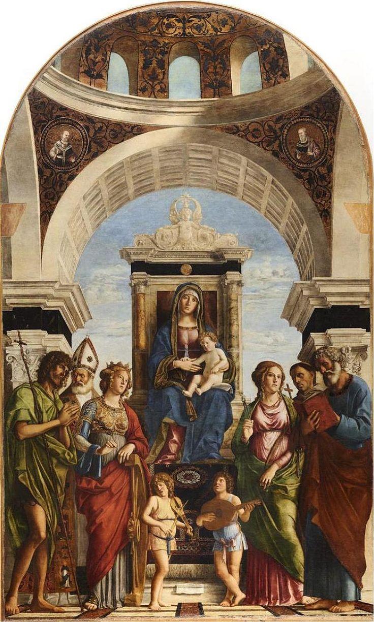 577. Cima da Conegliano - Madonna in trono col Bambino fra angeli e santi - 1492 circa - Conegliano, Duomo