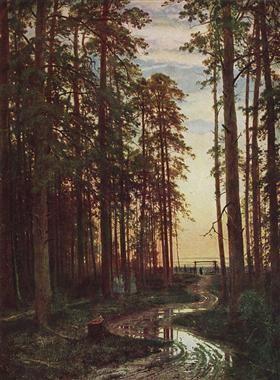 Вечер в сосновом лесу - Иван Шишкин
