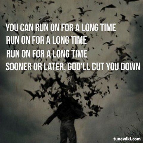 """-- #LyricArt for """"God's Gonna Cut You Down"""" by Johnny Cash"""