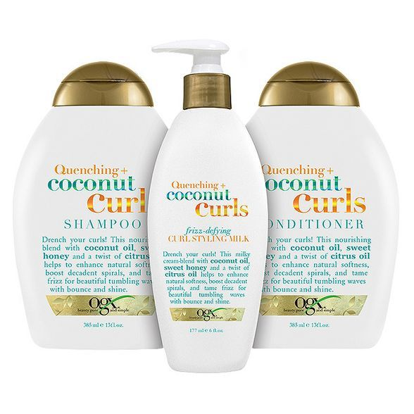 Ogx Quenching Coconut Curls Shampoo 13 Fl Oz In 2021 Curl Shampoo Curl Conditioner Good Shampoo And Conditioner