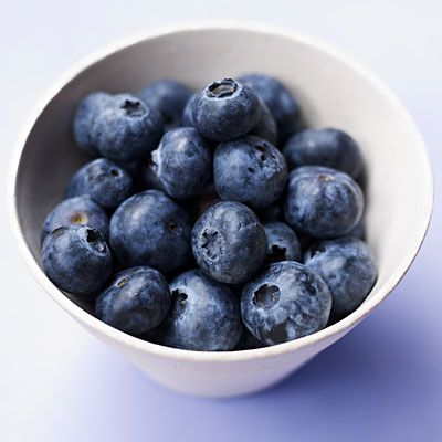 Best known for their anti-aging effects, blueberries, while tiny, are a powerful figure-friendly eat: A 1-cup serving sets you back only 80 calories, and helps you feel full with 4 grams of fiber.
