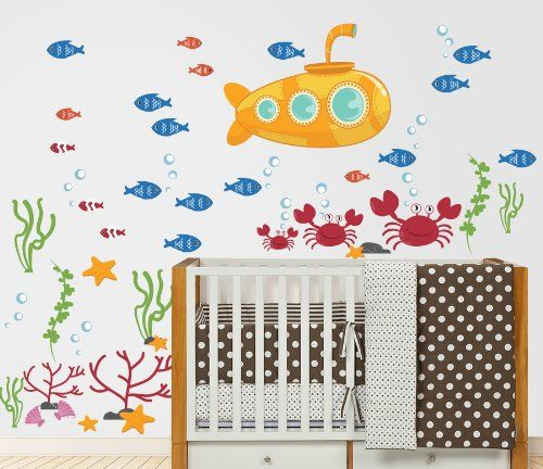 Ocean Wall Decal Submarine Fish Crabs And More U003eu003eu003e You Can Get More Details Part 72