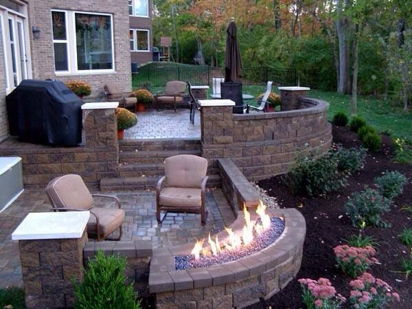 Outdoor Room w/ unique fire feature