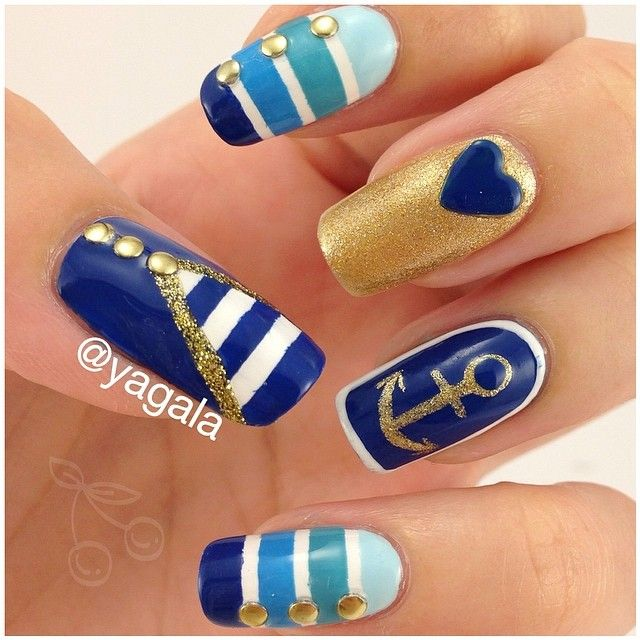 1000+ Ideas About Nautical Nail Designs On Pinterest