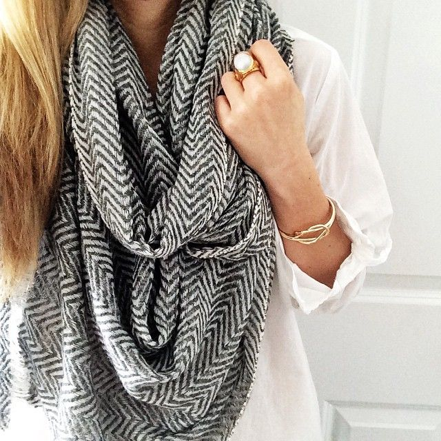 Love the herringbone scarf: