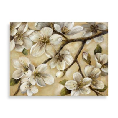 """""""Paces"""" Floral Canvas Art - BedBathandBeyond.com"""