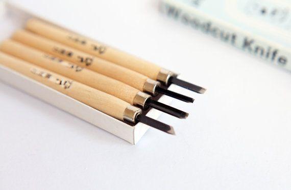 Rubber stamp tool madera cuchillo para sellos de goma