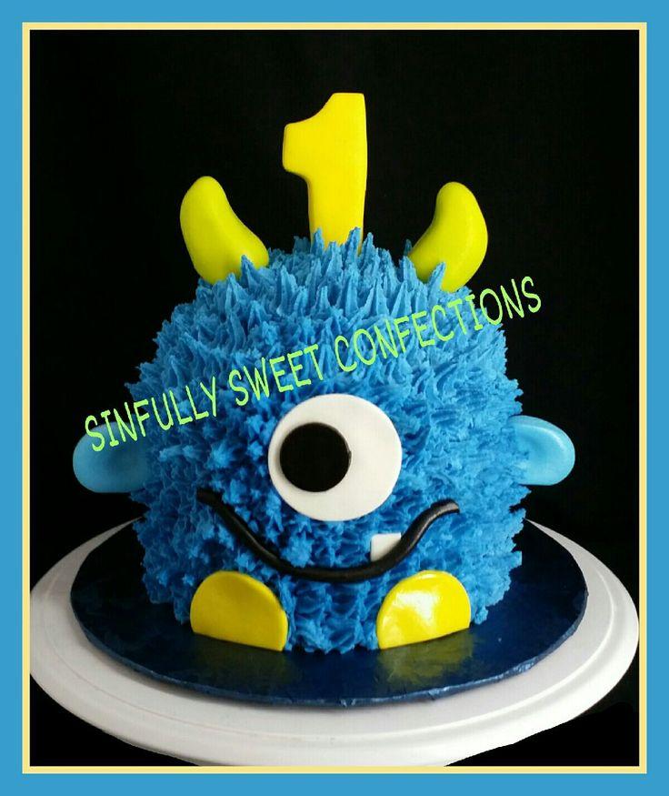 Little Monsters Birthday Smash Cake