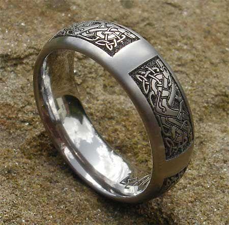 Celtic Animal Titanium Rings Celtic Dog Ring Viking