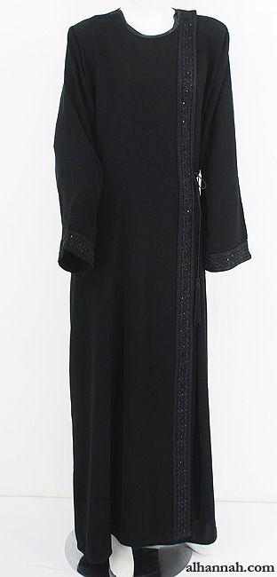 Classic Omani Shoulder Close Abaya - ab620 - AlHannah Islamic Clothing