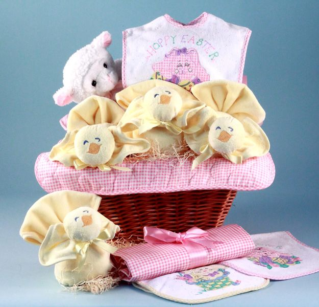 15 best brooklyns first easter images on pinterest baby girls babys first easter gift basket girl negle Gallery