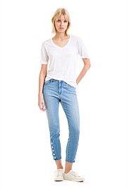 Crop Ankle Button Jean