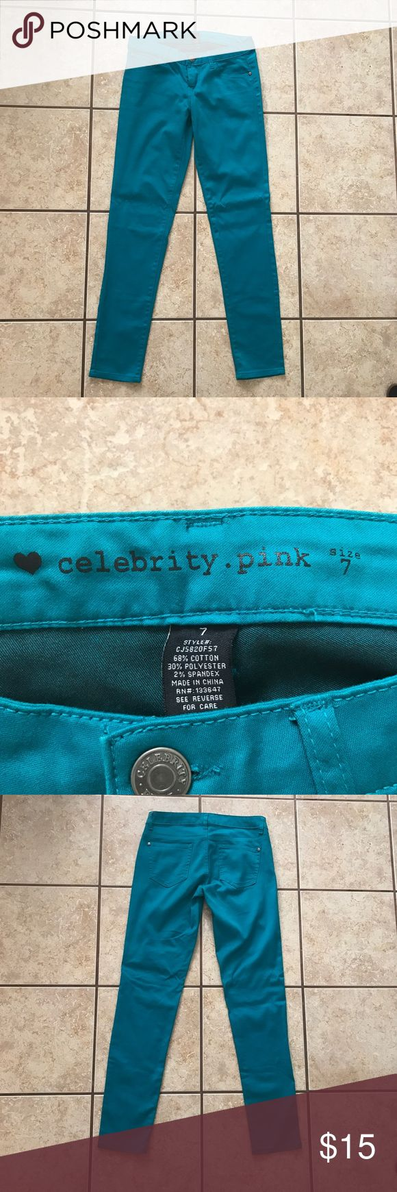 Celebrity Pink Bright Blue Skinny Pants Celebrity Pink skinny pants/jeans in bright blue. Also available in orange and red. Slightly elastic. Only worn a couple of time. Great condition. Celebrity Pink Pants Skinny