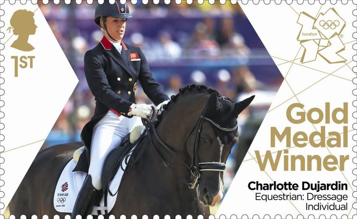 Team GB Gold Medal Winners 1st Stamp (2012) Equestrian: Dressage Individual - Team GB Gold Medal Winners