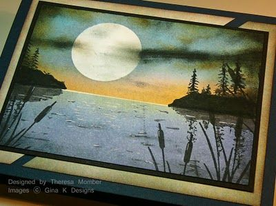 Moonlit water background