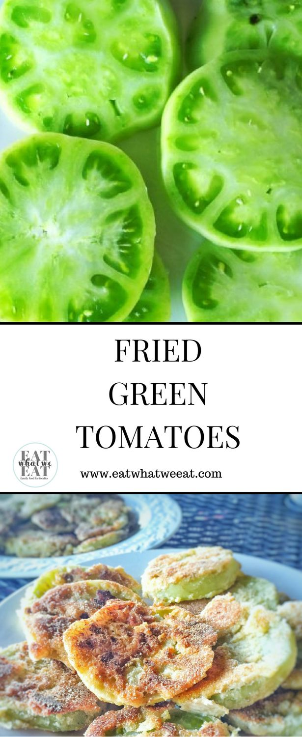 Gorgeous almost neon-green tomatoes, ready to be coated in cornmeal and lightly fried.