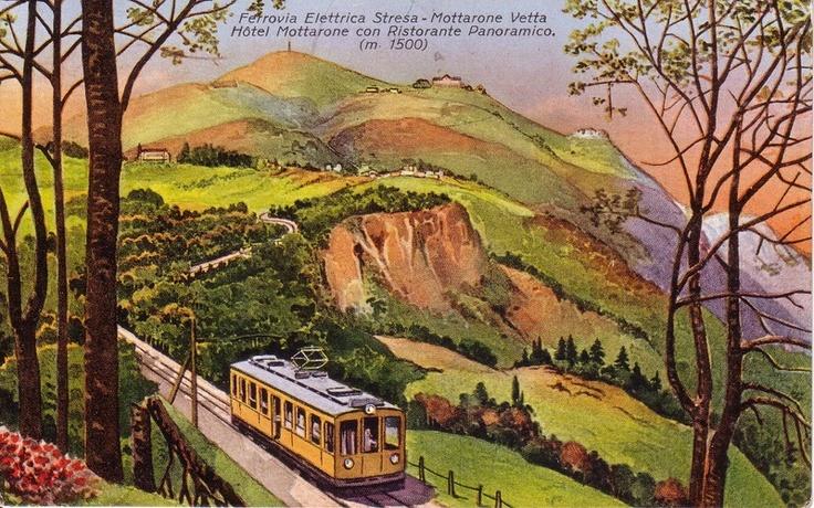 The former Stresa - Mottarone cog railway, Italy
