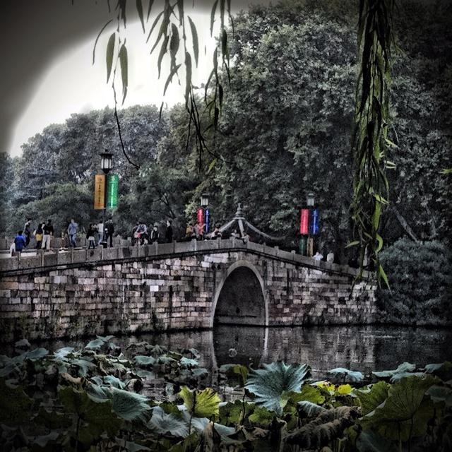 One of bridges at West Lake, Hangzhou