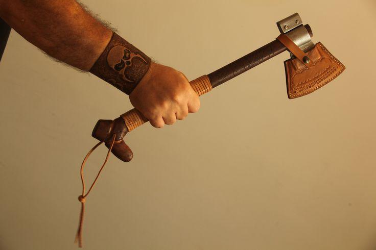 Handmade Axe Leather Cuff