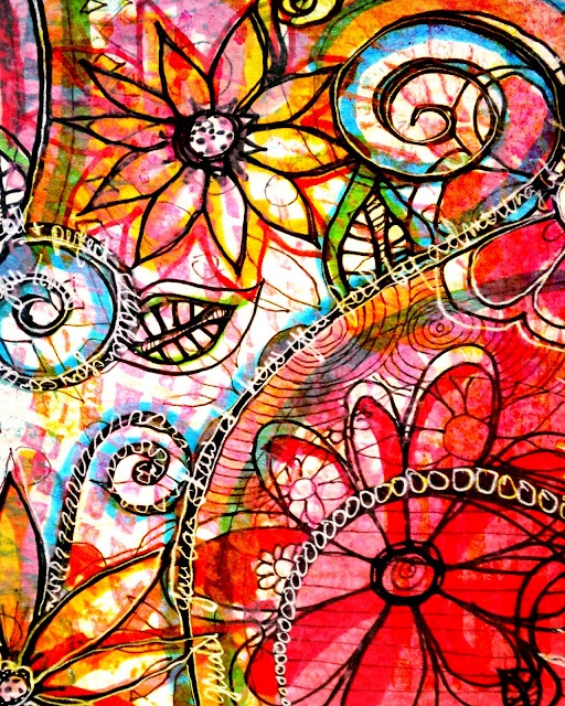 free background as well as tons of beautiful art journal pages to be inspired by