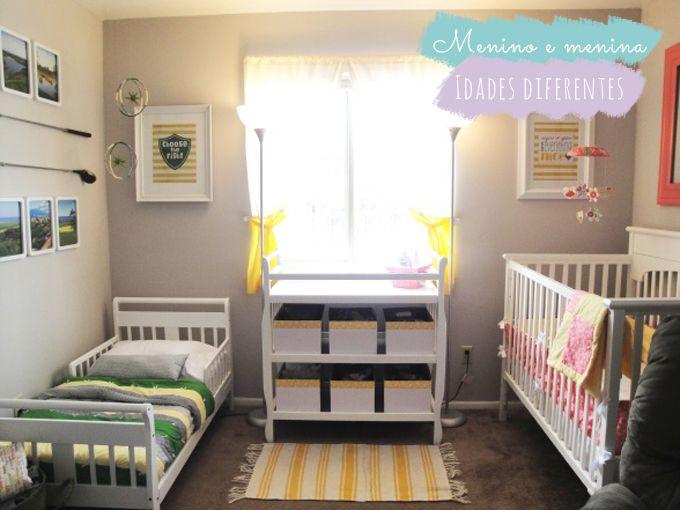 No mesmo quarto: menino + menina ou bebê + criança | Comprando Meu Apê