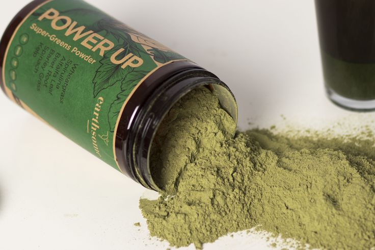 Earthsome Power Up Super-Greens Powder. 400g of 12 vital ingredients to nourish your body.  Ready to be mixed with your favorite fruits in a smoothie or simply add water. Click image to visit Earthsome Shop to learn more.