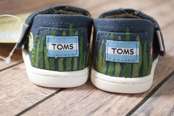 Underwater themed hand painted tiny Toms