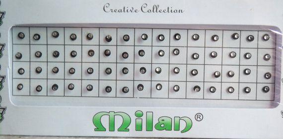 On sale 60 Black Crystal Bindi India/dot/round by CraftyJaipur