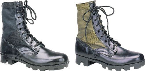 Leather Panama Sole Military Jungle Boots - http://authenticboots.com/leather-panama-sole-military-jungle-boots/