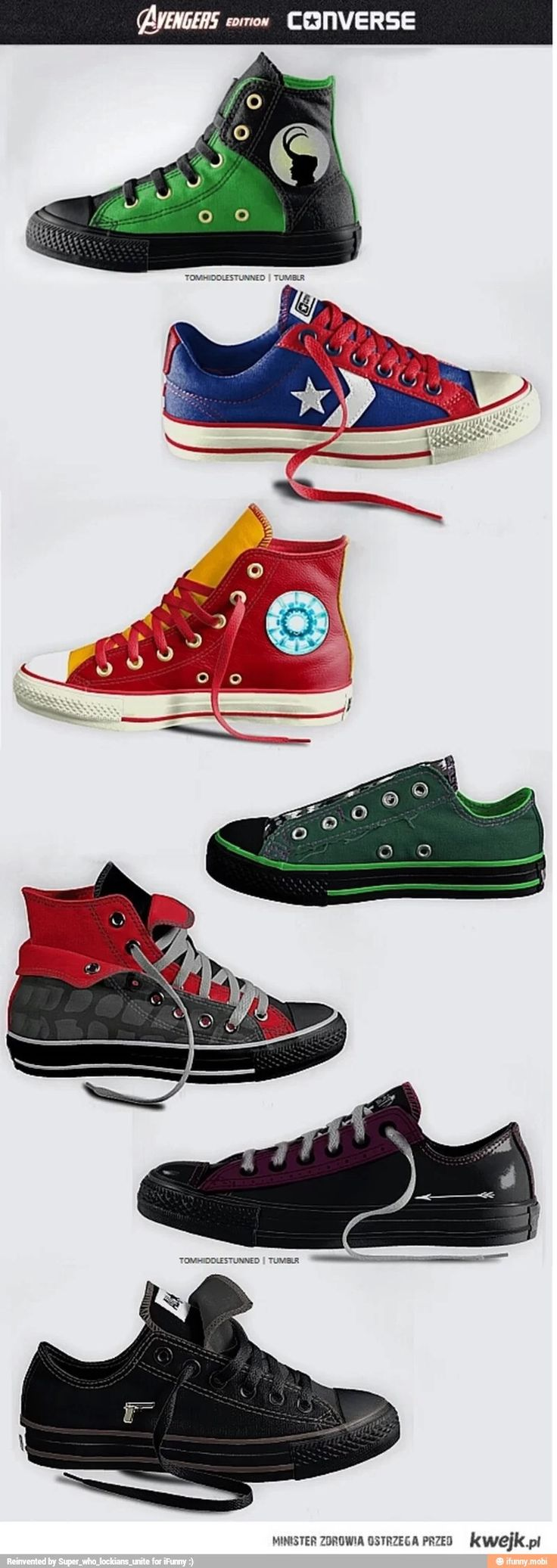 Avengers themed Converse