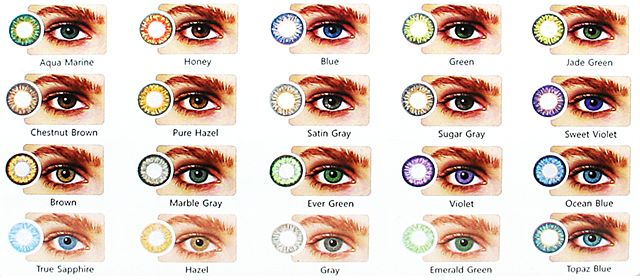 Hollywood Luxury Color Lenses (1pair+Free Lense case)