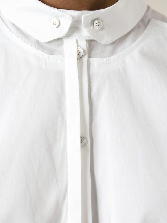 Креативные воротнички белых рубашек