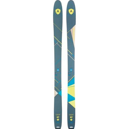 Dynastar's Cham series blew freeriders out the water last year, and it's back this winter for a second go round, along with a few tweaks that make it even better. The middle child of the Cham sisters, the Cham 97 2.0 Women's Ski provides a balanced blend of hard and soft snow shredability, with a 97mm waist, underfoot camber, and moderate rocker in the tip and tail to let you float and slash through soft snow.