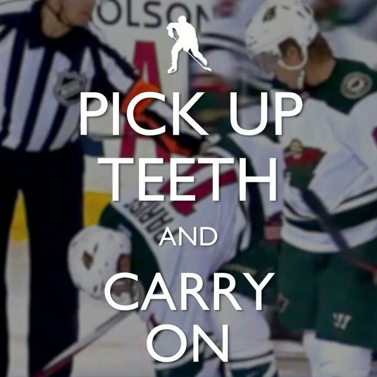 Pick up your teeth and carry on. #hockey
