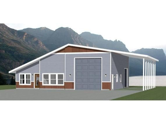46x48 House 2 Bedroom 2 Bath 1157 Sq Ft Pdf Floor Etsy In 2020 Metal House Plans Barn House Plans Garage House Plans