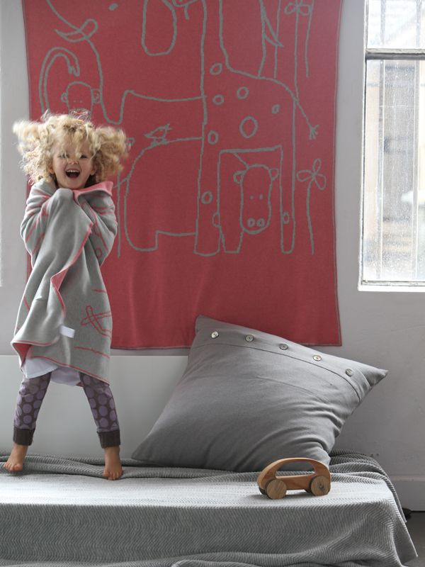Luna Gallery – Knitted ZOO Blanket • Available at thebigdesignmarket.com