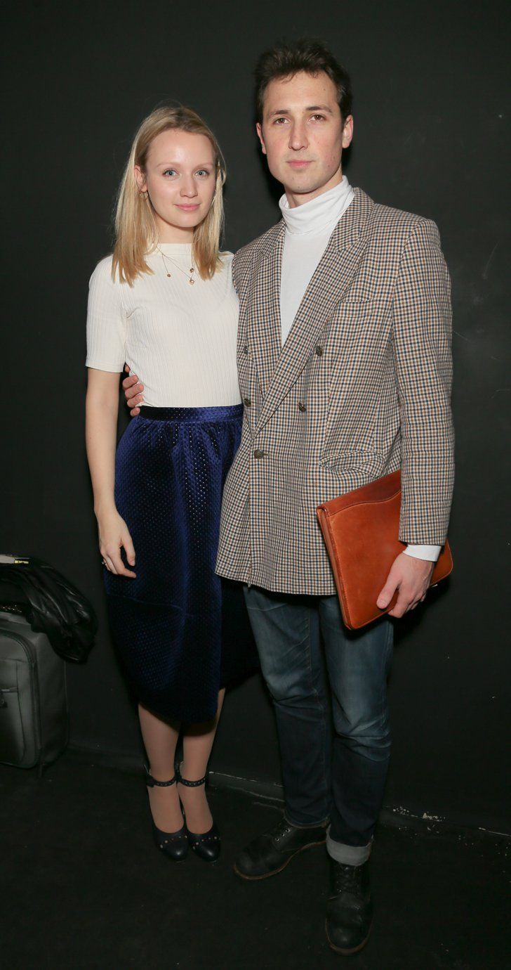 Pin for Later: See All the Celebrities at London Fashion Week Emily Berrington and Ben Lloyd-Hughes At the Shrimps show.