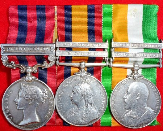 INDIA & BOER WAR MEDALS GROUP of 3