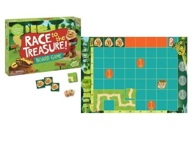 It's a race to see who can get to the treasure first - you or the Ogre. Unlike most games Race to the Treasure encourages kids to help each other to beat the game. This way, kids work together, they help each other, and everybody wins! A cooperative game eliminates stress, builds self-esteem, and teaches kids that playing together can be fun! 5 Years + $39.99