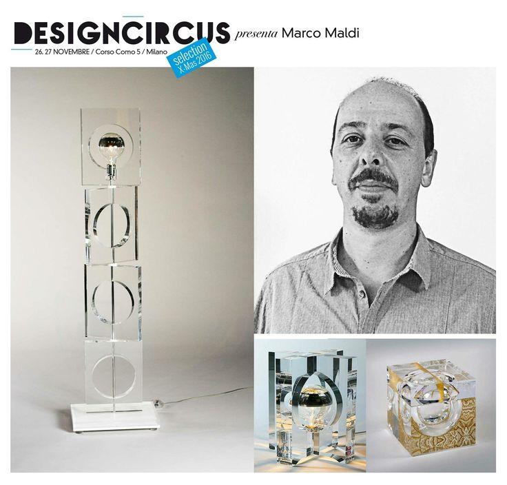 DESIGNCIRCUS presenta MARCO MALDI Marco Maldi è l'anima di W2 Design Lab, brand di oggetti in plexiglass dalla forte personalità: dalla lampada Retrò, rifacimento di un modello di 40 anni fa, al porta-ghiaccio scavato 3/4 a mano. Venite a scoprirli a DesignCircus, il 26 e il 27 novembre in corso Como 5!