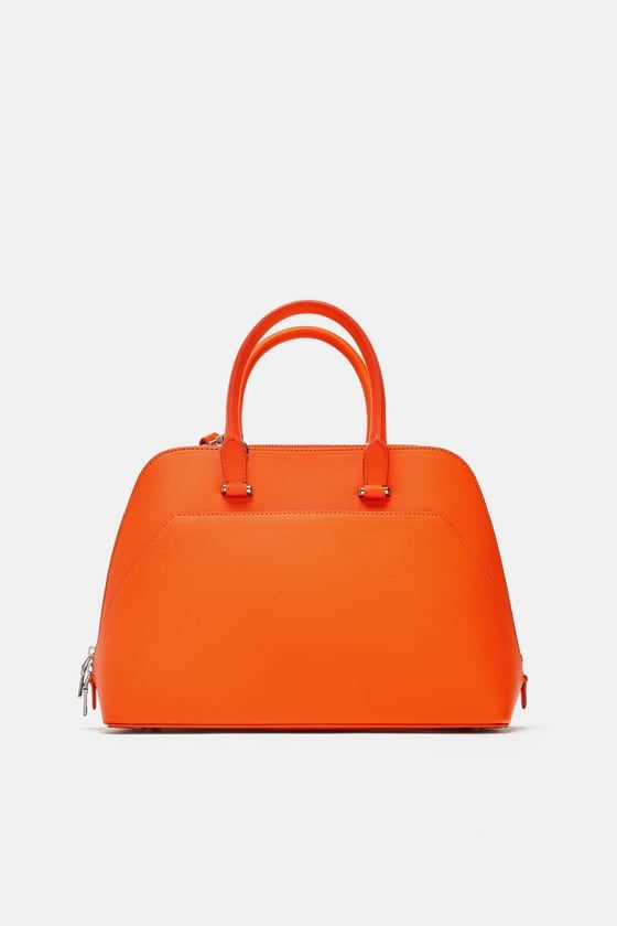 6e3050857477 Image 1 de SAC DE VILLE MONOCHROME ORANGE de Zara   SAC   Pinterest ...