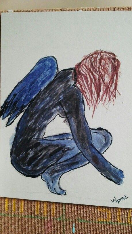 Black and blue angel