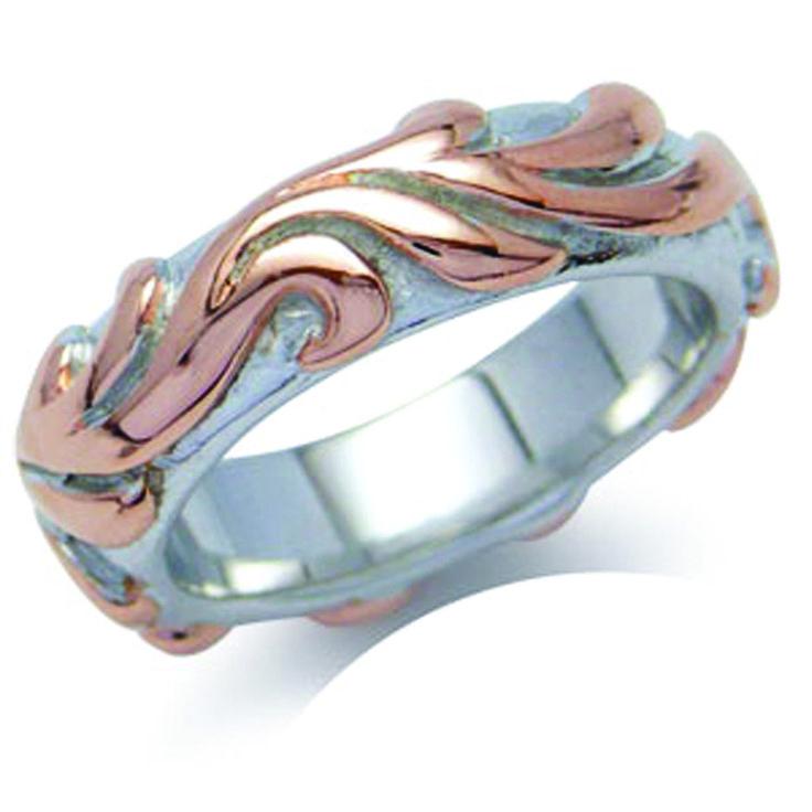 PIERŚCIONEK MORENA Srebrny pierścionek obrączka, pozłacany BRACCATTA
