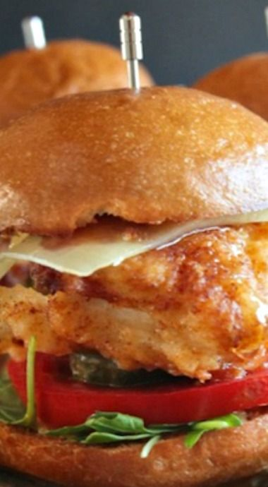 Honey Mustard Fried Chicken Sliders. Enjoy these delicious, super-easy to make sliders!