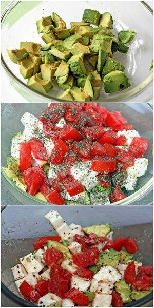 Avocado / Tomato/ Mozzarella Salad | Bake a Bite