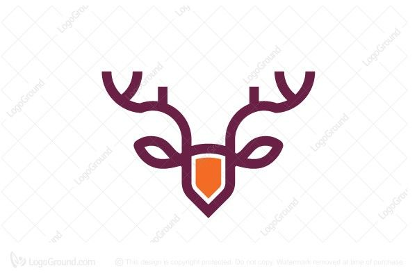 Logo for sale: Elk Head Shield Logo. Unique modern elk head logo with shield shape. The symbol itself will looks nice as social media avatar and website or mobile icon. elk deer logo logos luxury young elegant modern strength simple product business brand design graphic unique recognized professional software apps app applications application reindeer buy purchase sell on sale sold