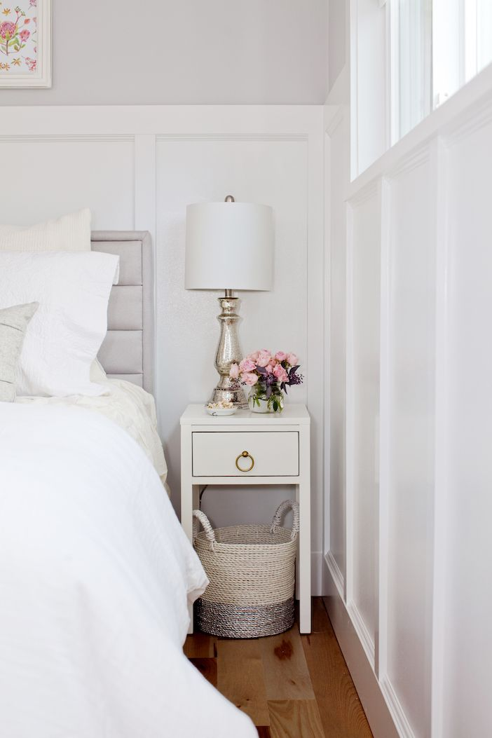 Narrow nightstand.  Love the pull.