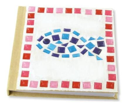 Rosa stickers, mosaik